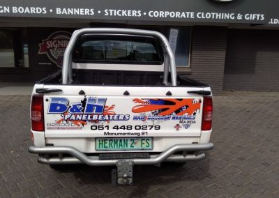 B and H Panelbeaters Rebrand their Fleet in Bloemfontein